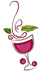 Artistic Wine embroidery design