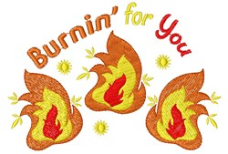Burnin For You embroidery design