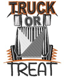 Truck or Treat embroidery design