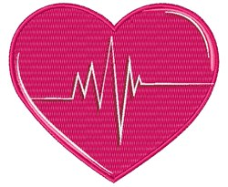 Heart & Heartbeat embroidery design