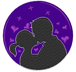Silhouette Kiss embroidery design