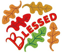 Blessed Fall Leaves embroidery design