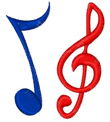 Music Note & Clef embroidery design
