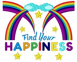 Find Your Happiness embroidery design