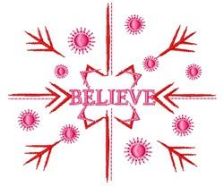 Snowflake Believe embroidery design