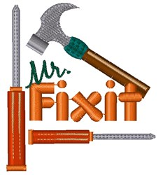 Mr Fixit embroidery design