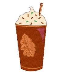 Fall Latte Base embroidery design