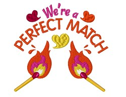 Flame We re A Perfect Match embroidery design