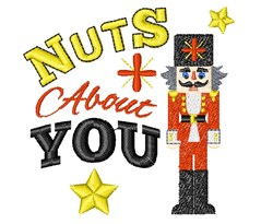 Nutcracker I m Nuts About You embroidery design