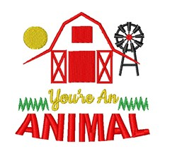 Barn You re An Animal embroidery design