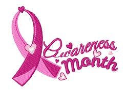 Pink Ribbon Awareness Month embroidery design