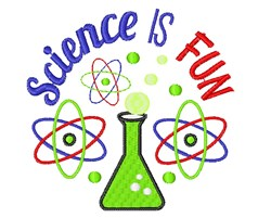 Science Is Fun embroidery design