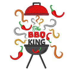 The BBQ King embroidery design