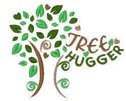 Tree Hugger embroidery design