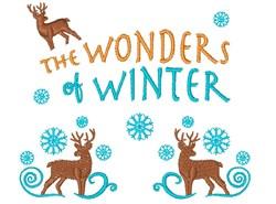 The Wonders Of Winter Reindeer embroidery design