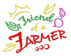 Friend Of A Farmer embroidery design