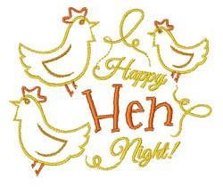 Happy Hen Night embroidery design