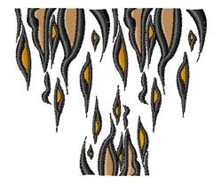 Tiger Stripes embroidery design