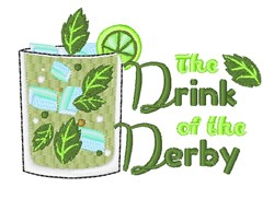 Drink Of The Derby embroidery design