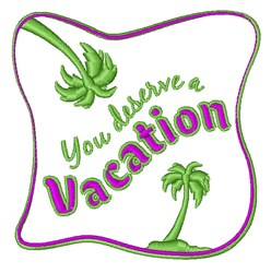 A Vacation embroidery design