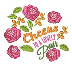 A Lovely Pair embroidery design