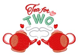 Tea For Two embroidery design