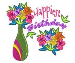 Happiest Birthday embroidery design