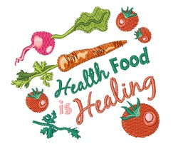 Health Food embroidery design