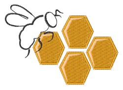 Bee Honeycomb embroidery design