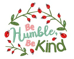 Be Humble embroidery design