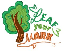 Leaf Your Mark embroidery design