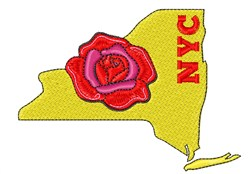 NYC Rose embroidery design