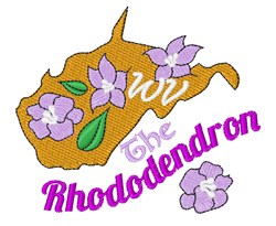 The Rhododendron embroidery design