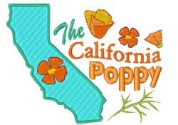 California Poppy embroidery design