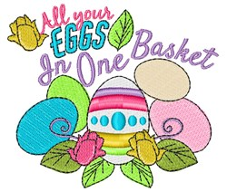 Eggs In One Basket embroidery design