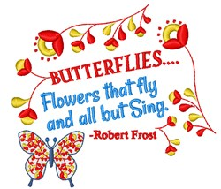 Flowers That Fly embroidery design