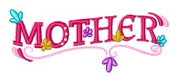 Mother embroidery design
