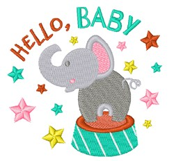 Hello Baby embroidery design