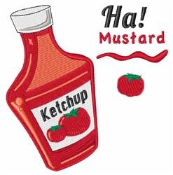 Ha! Mustard embroidery design