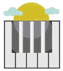 Piano Sunshine embroidery design