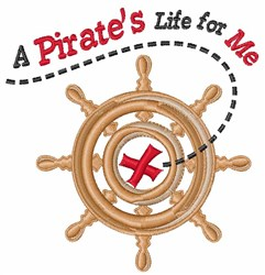 A Pirates Life embroidery design