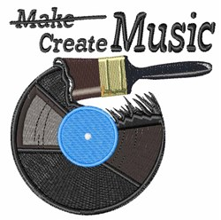 Create Music embroidery design