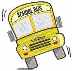 School Bus embroidery design