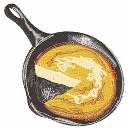 Cornbread Pan embroidery design