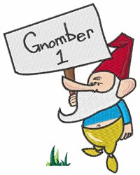 Gnomber 1 embroidery design
