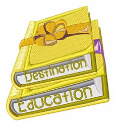 Destination Education embroidery design
