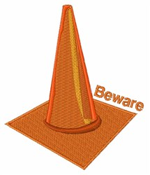 Beware Cone embroidery design