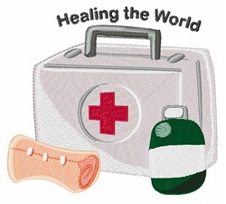 Healing The World embroidery design