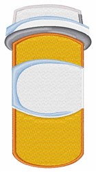Pill Bottle embroidery design