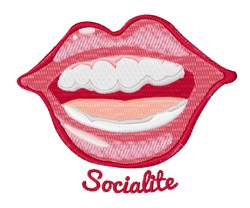 Socialite embroidery design